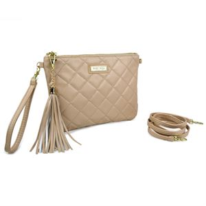 Picture of Gigi Hill Ashley Tan Quilt 3 in 1 Clutch